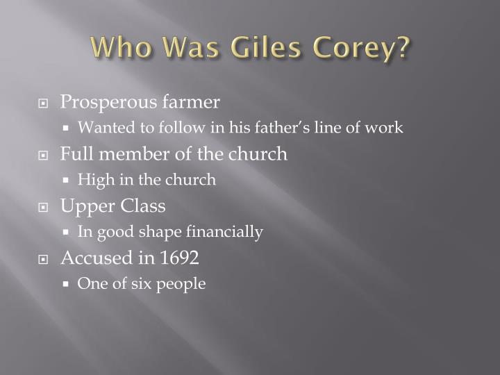 Who Was Giles Corey?