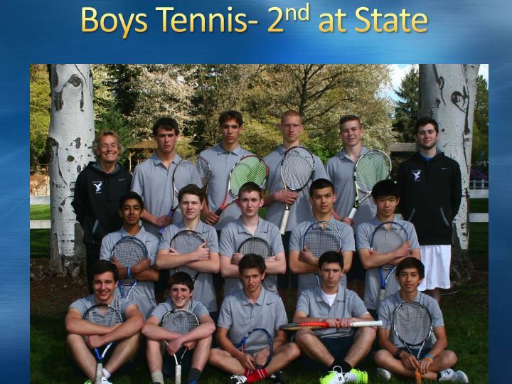 Boys Tennis- 2