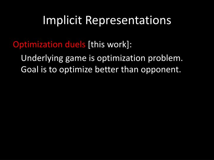 Implicit Representations