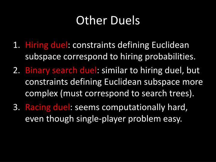 Other Duels