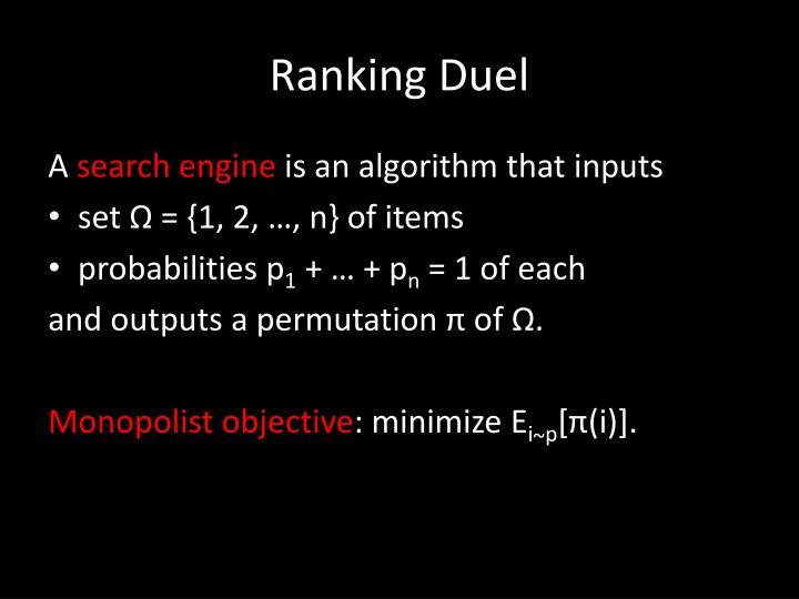 Ranking Duel