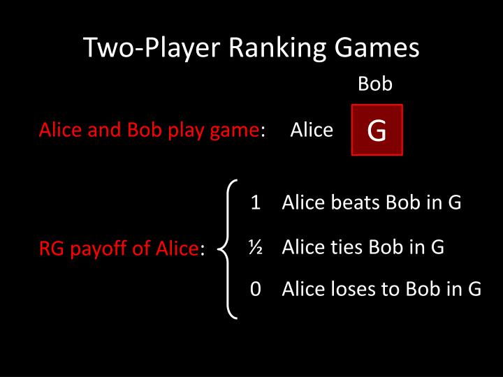 Two-Player Ranking Games