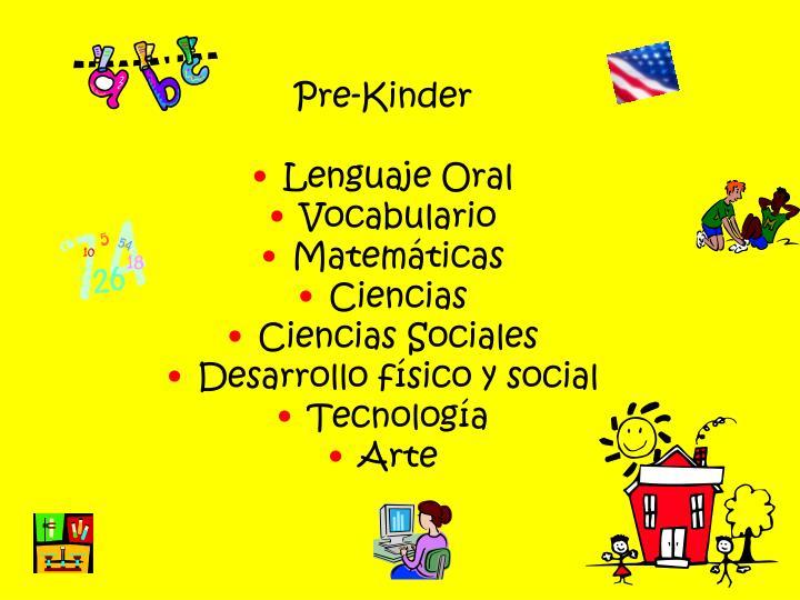 Pre-Kinder