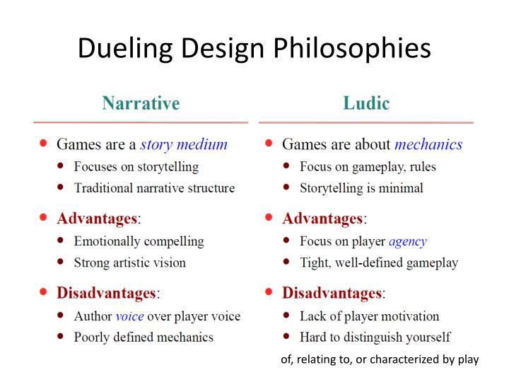 Dueling Design Philosophies