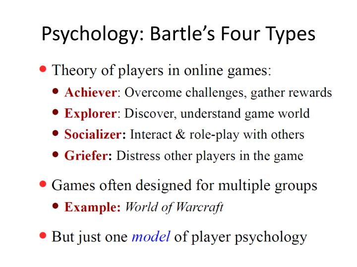 Psychology: Bartle's Four Types
