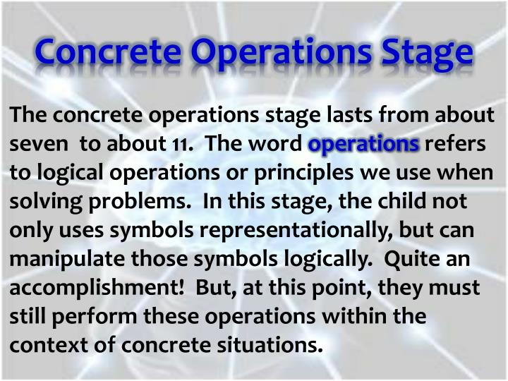 Concrete Operations Stage