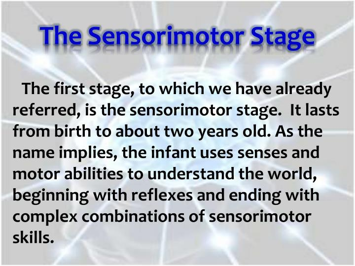 The Sensorimotor Stage