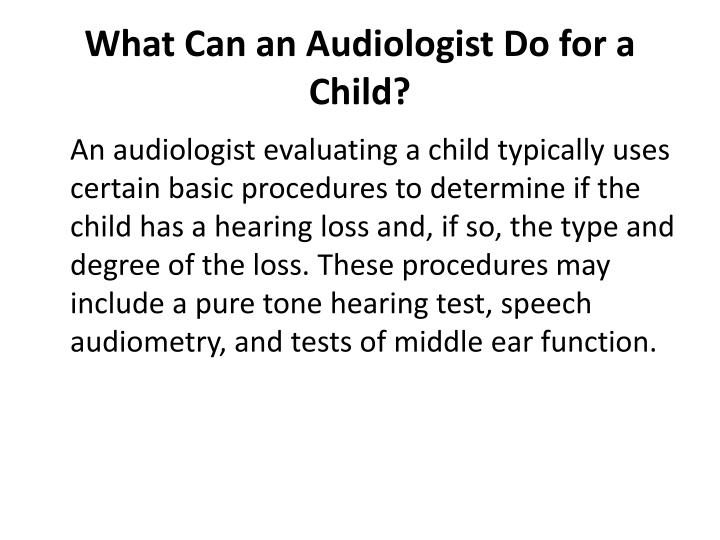 What Can an Audiologist Do for a Child?