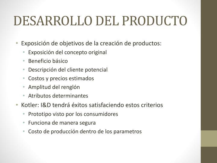 DESARROLLO DEL PRODUCTO