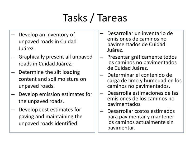 Tasks /