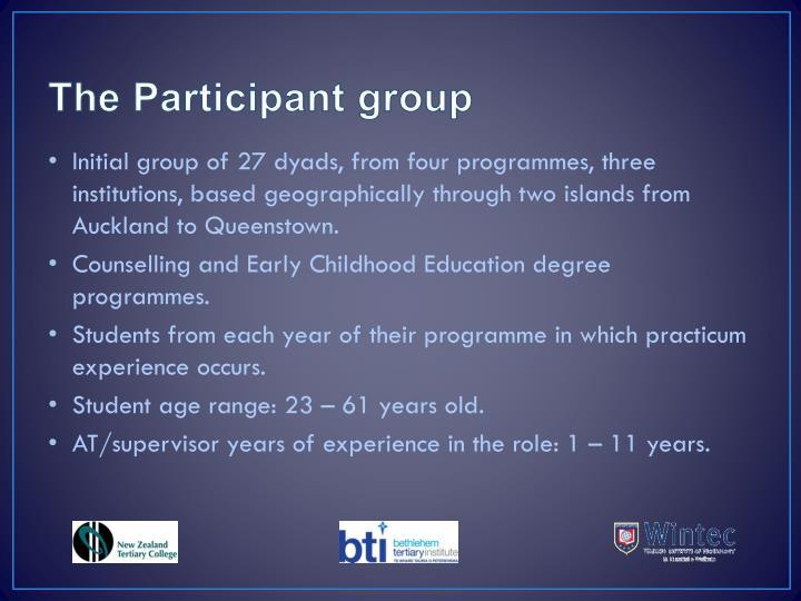 The Participant group