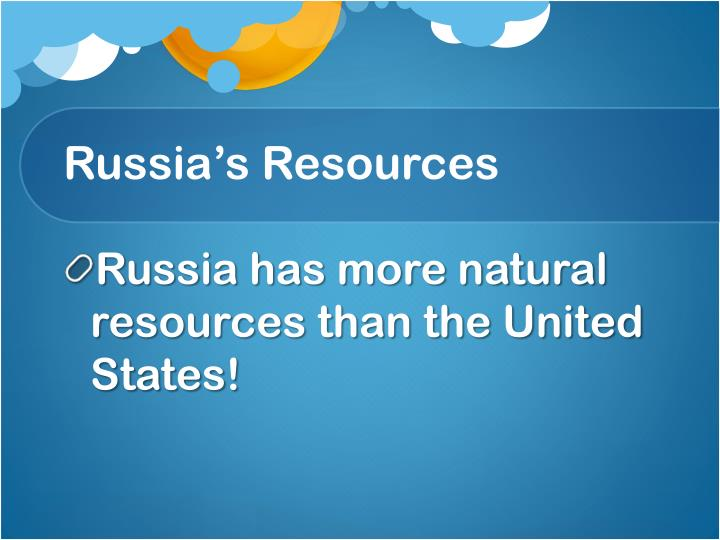 Russia's Resources