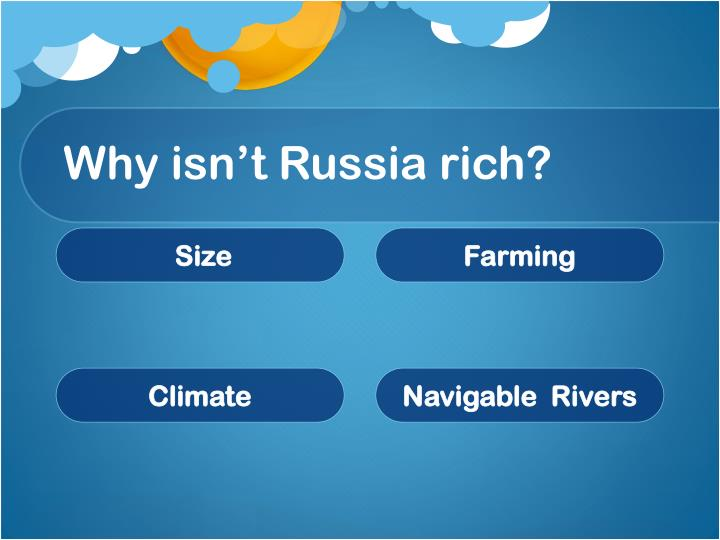 Why isn't Russia rich?