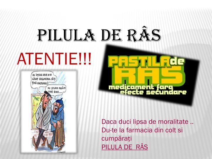 PILULA DE RÂS