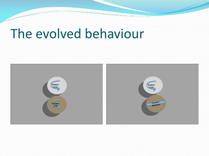 The evolved behaviour