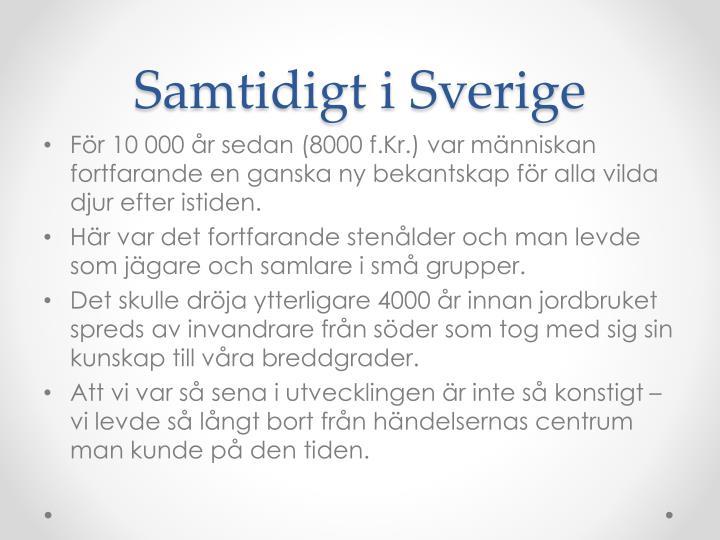 Samtidigt i Sverige