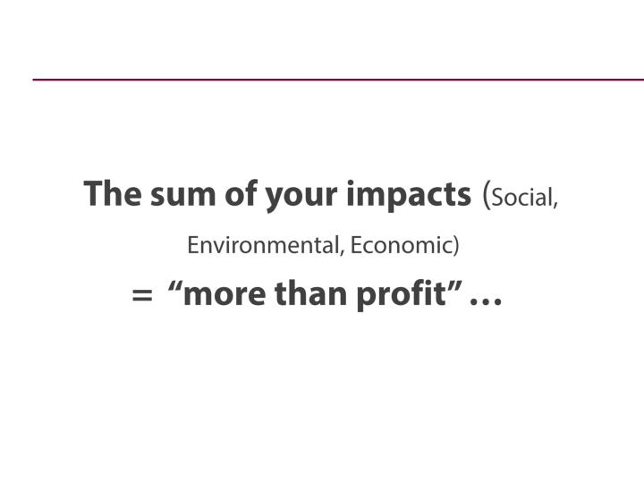 The sum of your impacts