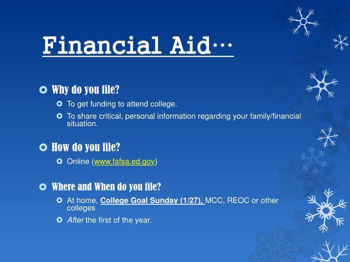 Financial Aid…