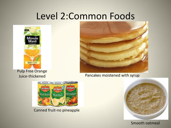 Level 2:Common Foods