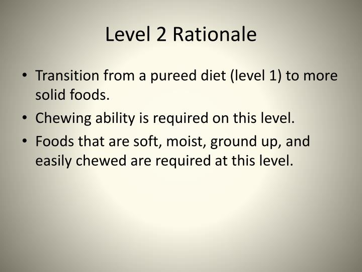 Level 2 Rationale