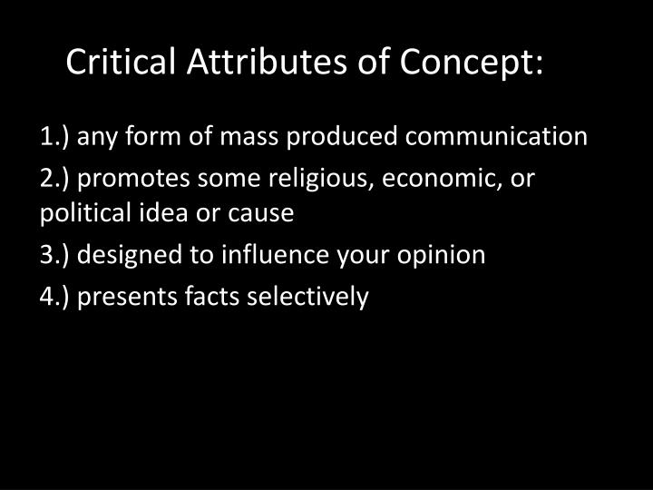 Critical Attributes of Concept: