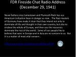 fdr fireside chat radio address december 29 1941