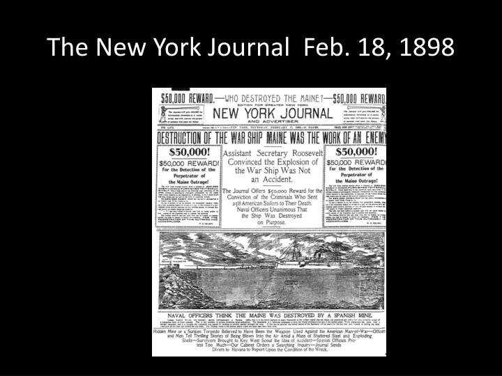 The new york journal feb 18 1898