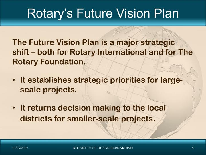Rotary's Future Vision Plan
