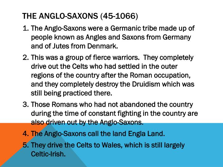 The Anglo-Saxons (45-1066)