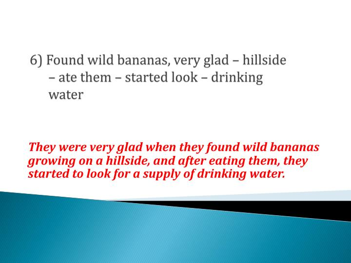 6) Found wild bananas, very glad – hillside