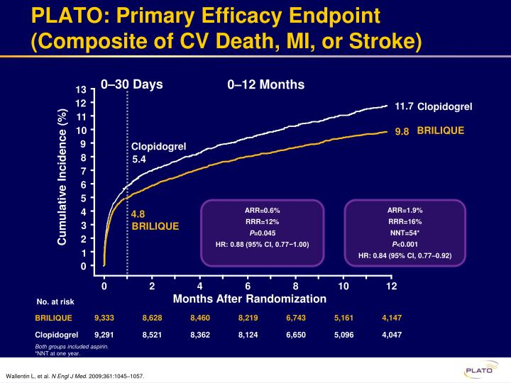 PLATO: Primary Efficacy Endpoint