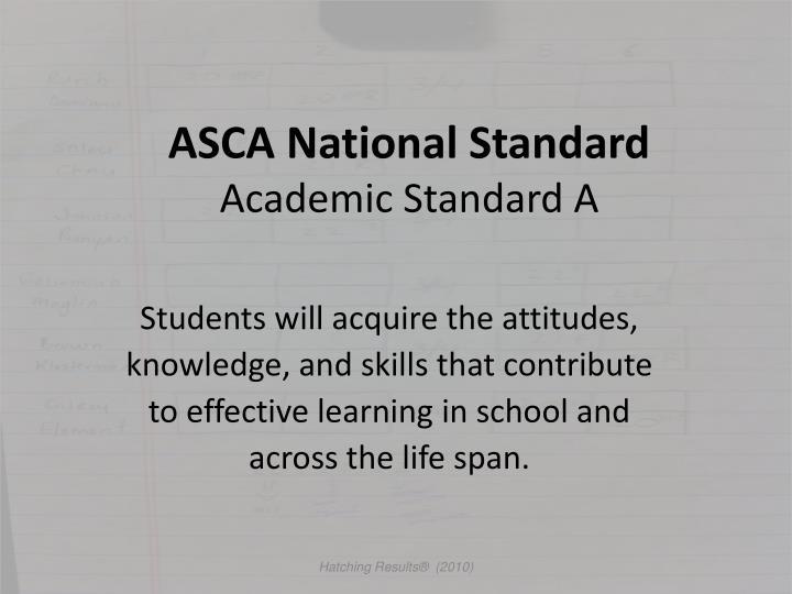 ASCA National Standard