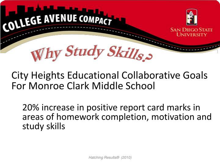 Why Study Skills?