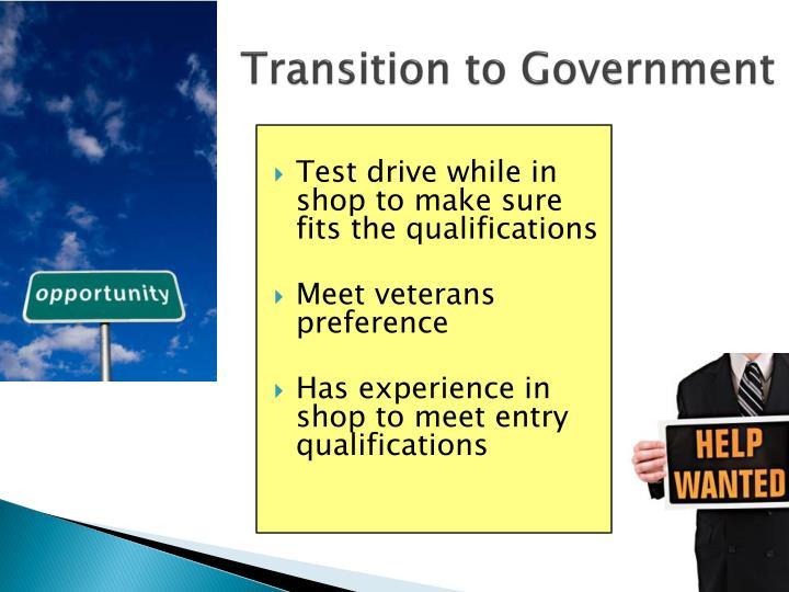 Transition to Government
