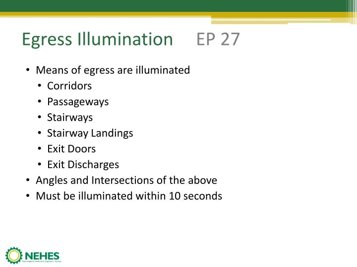 Egress Illumination