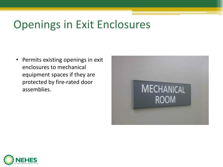Openings in