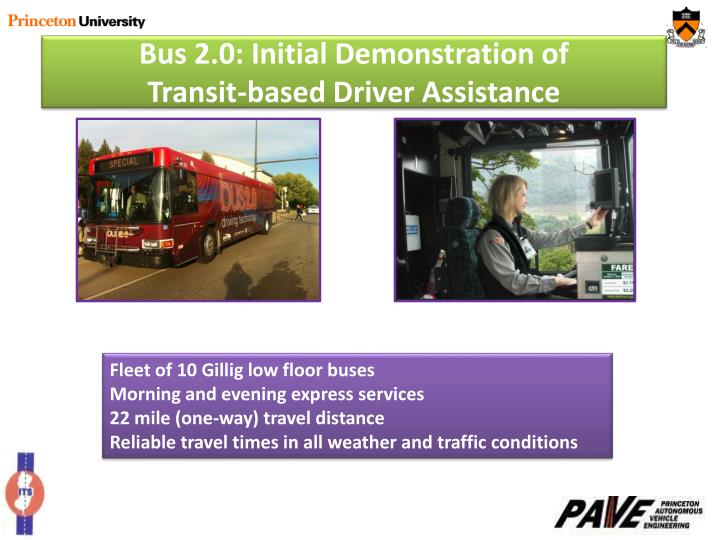 Bus 2.0: Initial Demonstration of