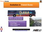 evolution in transit buses