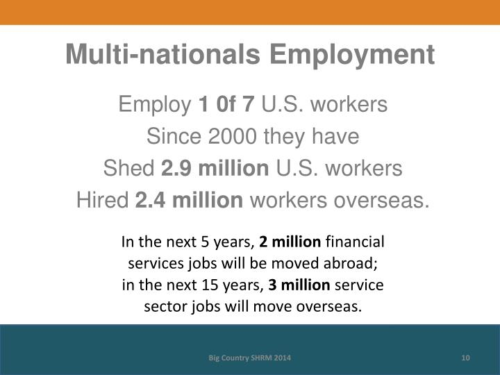 Multi-nationals Employment