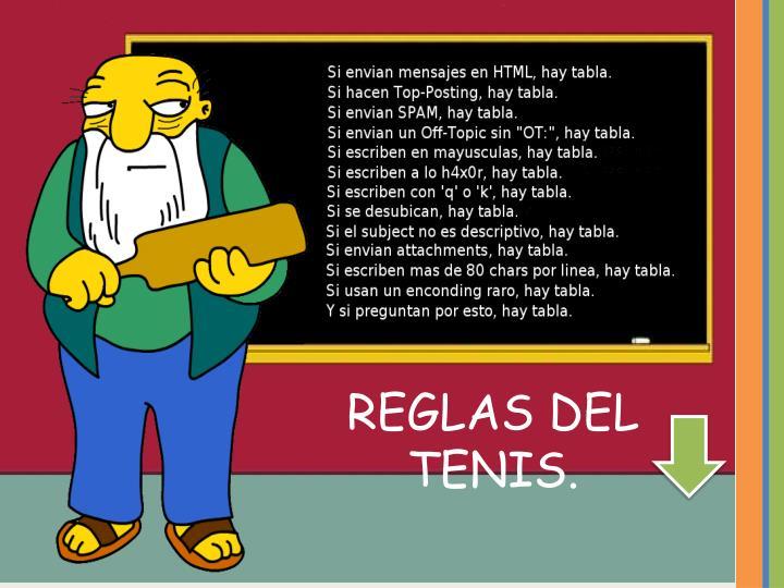 REGLAS DEL TENIS.