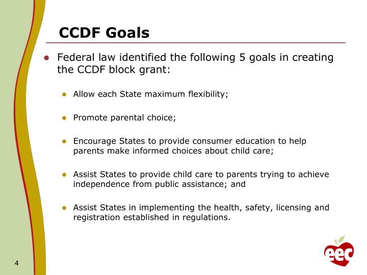 CCDF Goals