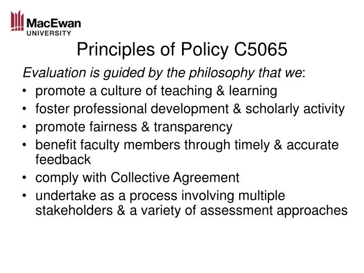 Principles of policy c5065