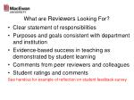 what are reviewers looking for