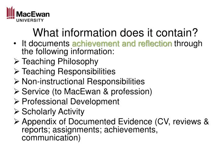 What information does it contain?