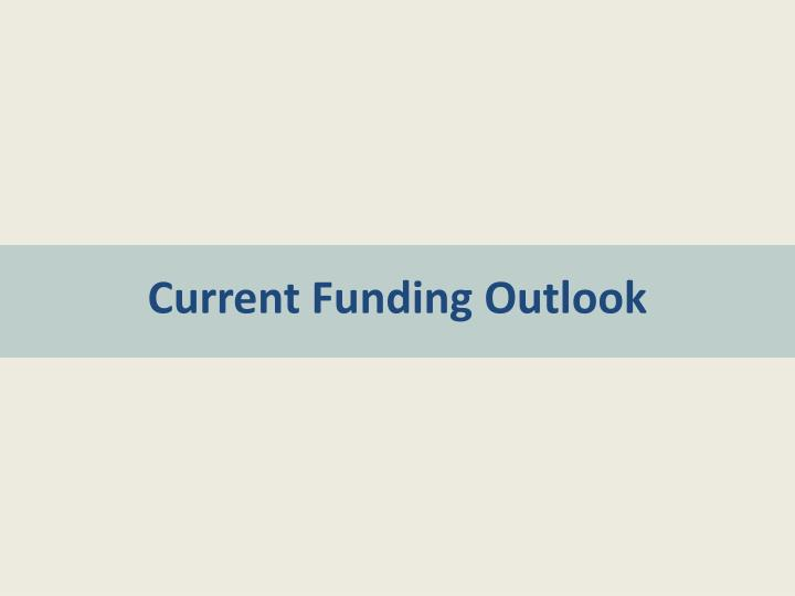 Current Funding Outlook