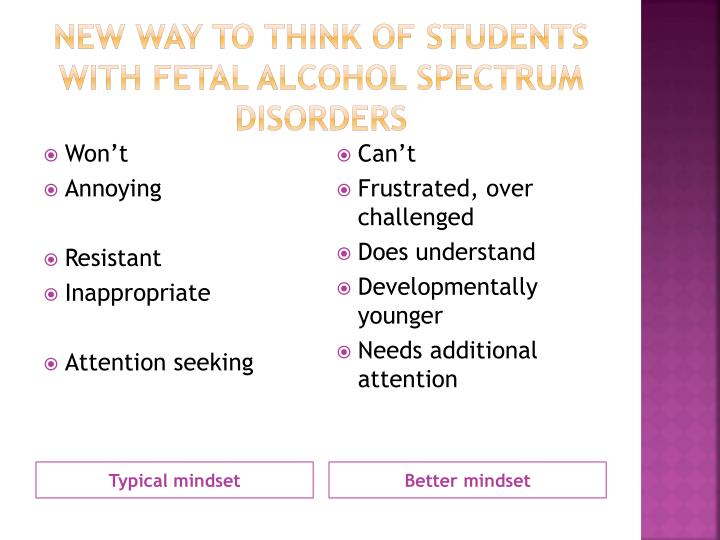 New way to think of students with fetal Alcohol spectrum Disorders