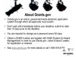 about grants gov