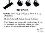 how to apply4