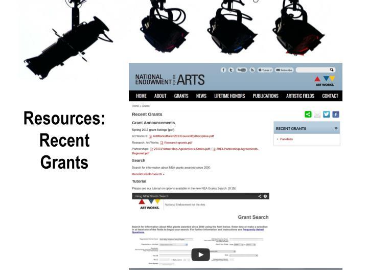 Resources: Recent Grants