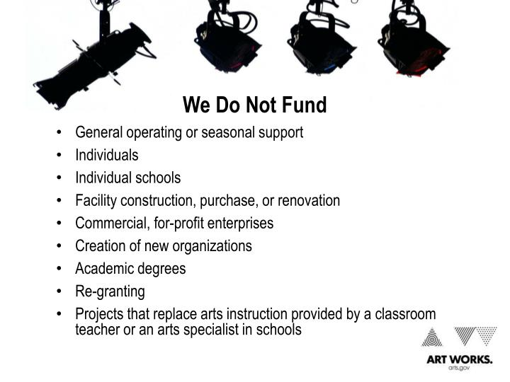 We Do Not Fund